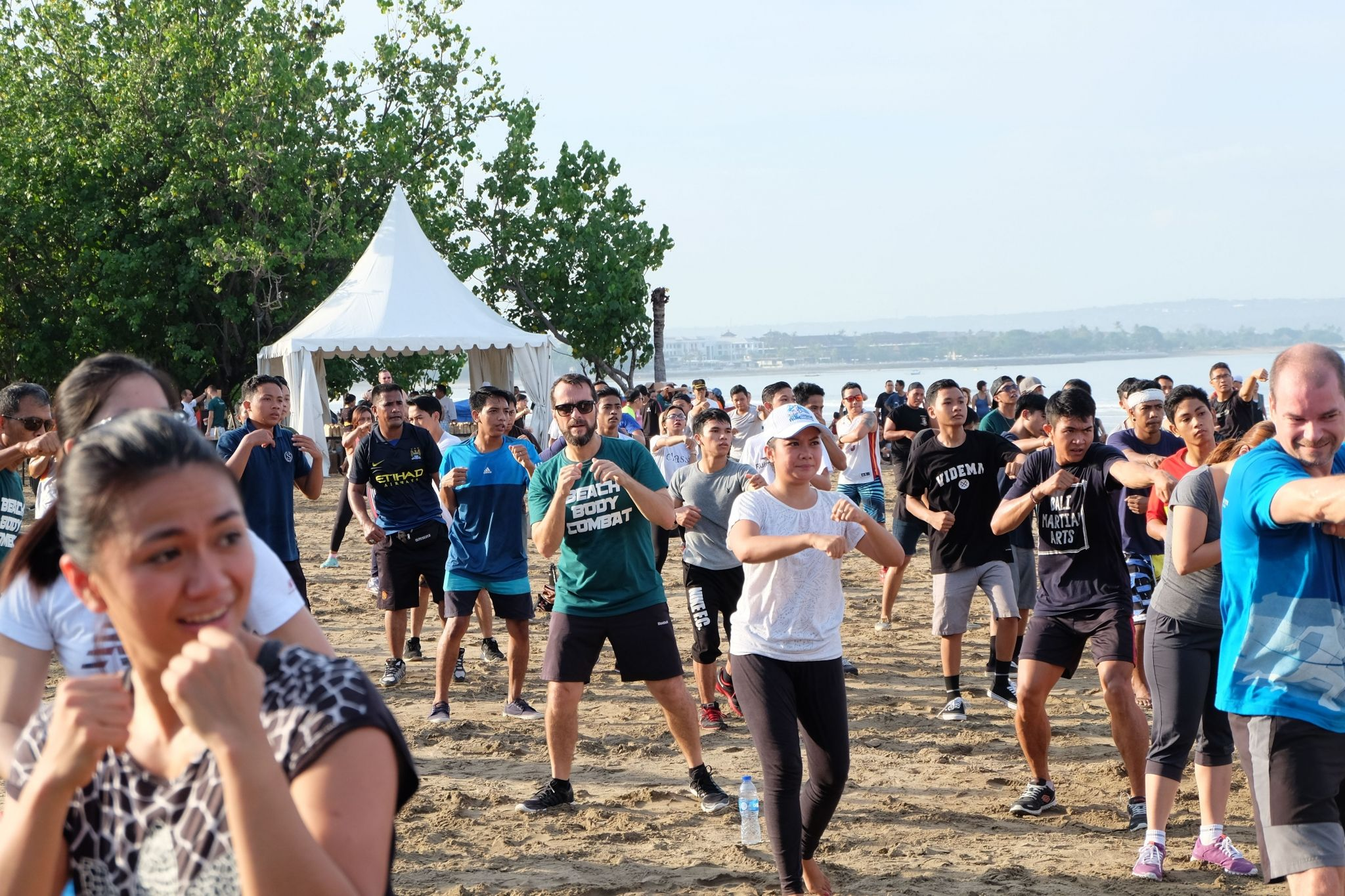 The participants of the Beach Body Combat - Sheraton Bali Kuta Resort