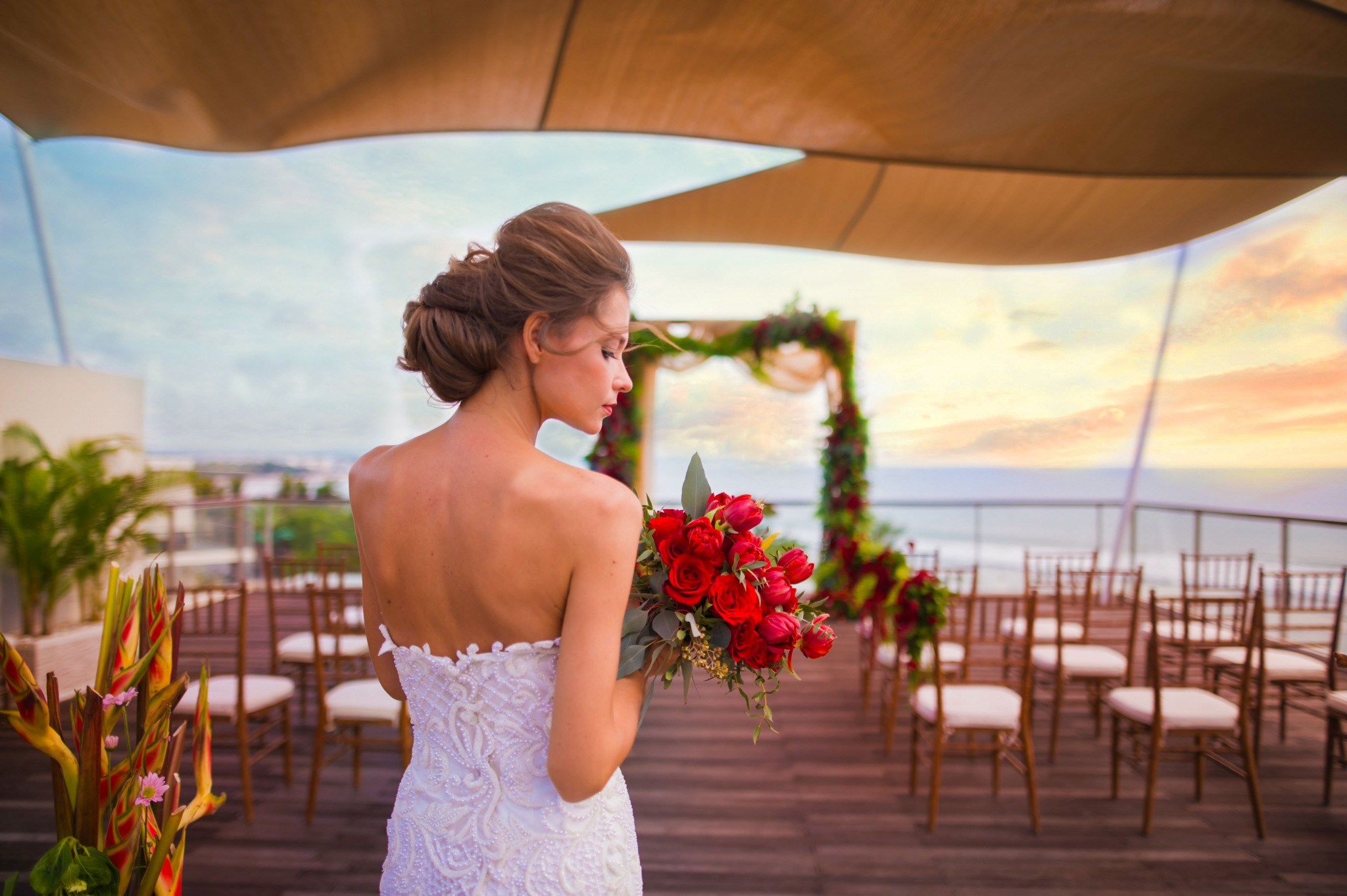 Rooftop Sky Wedding at Bene's Rooftop | Sheraton Bali Kuta Resort