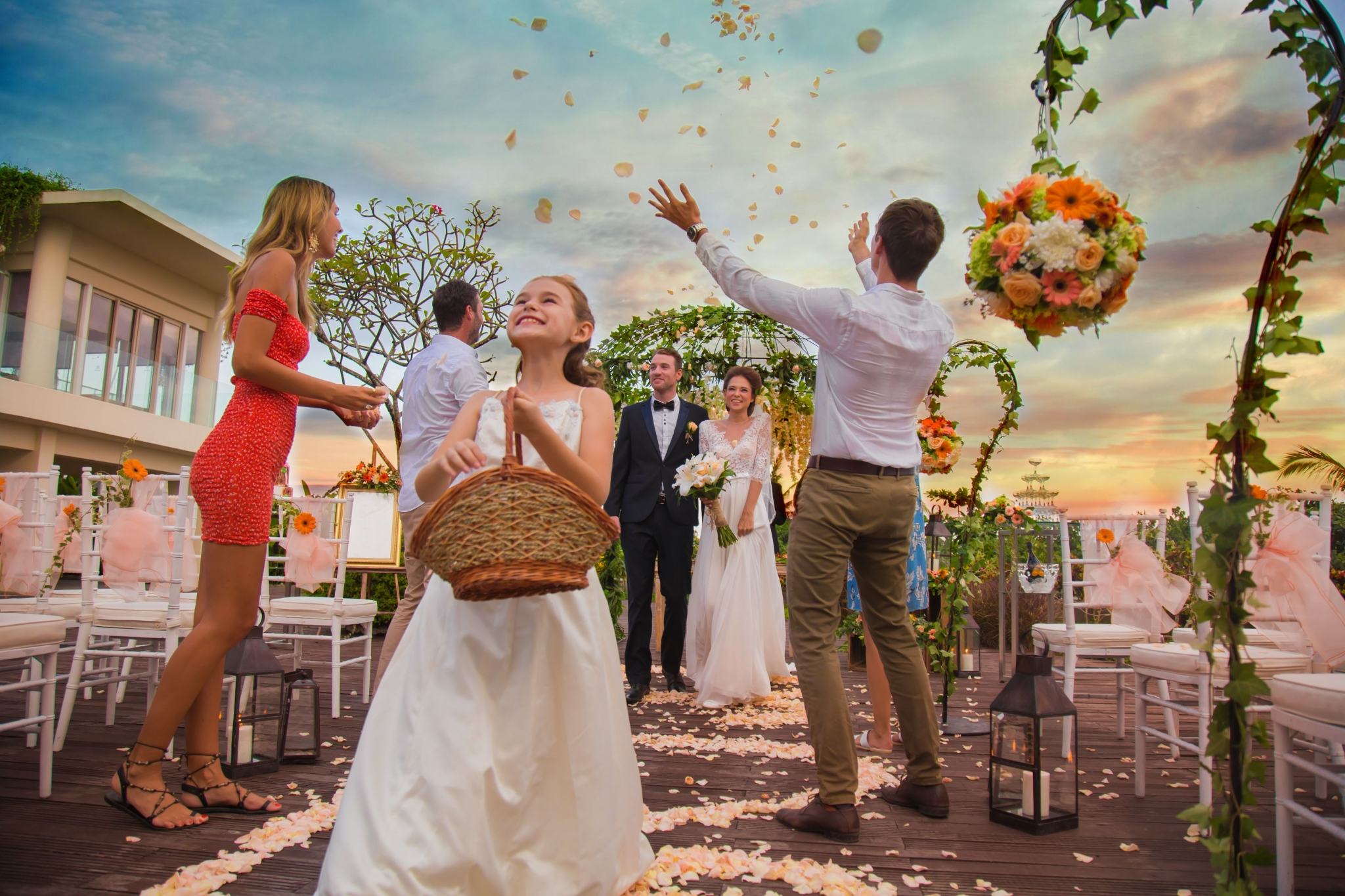 Elegant Garden Wedding at Courtyard | Sheraton Bali Kuta Resort