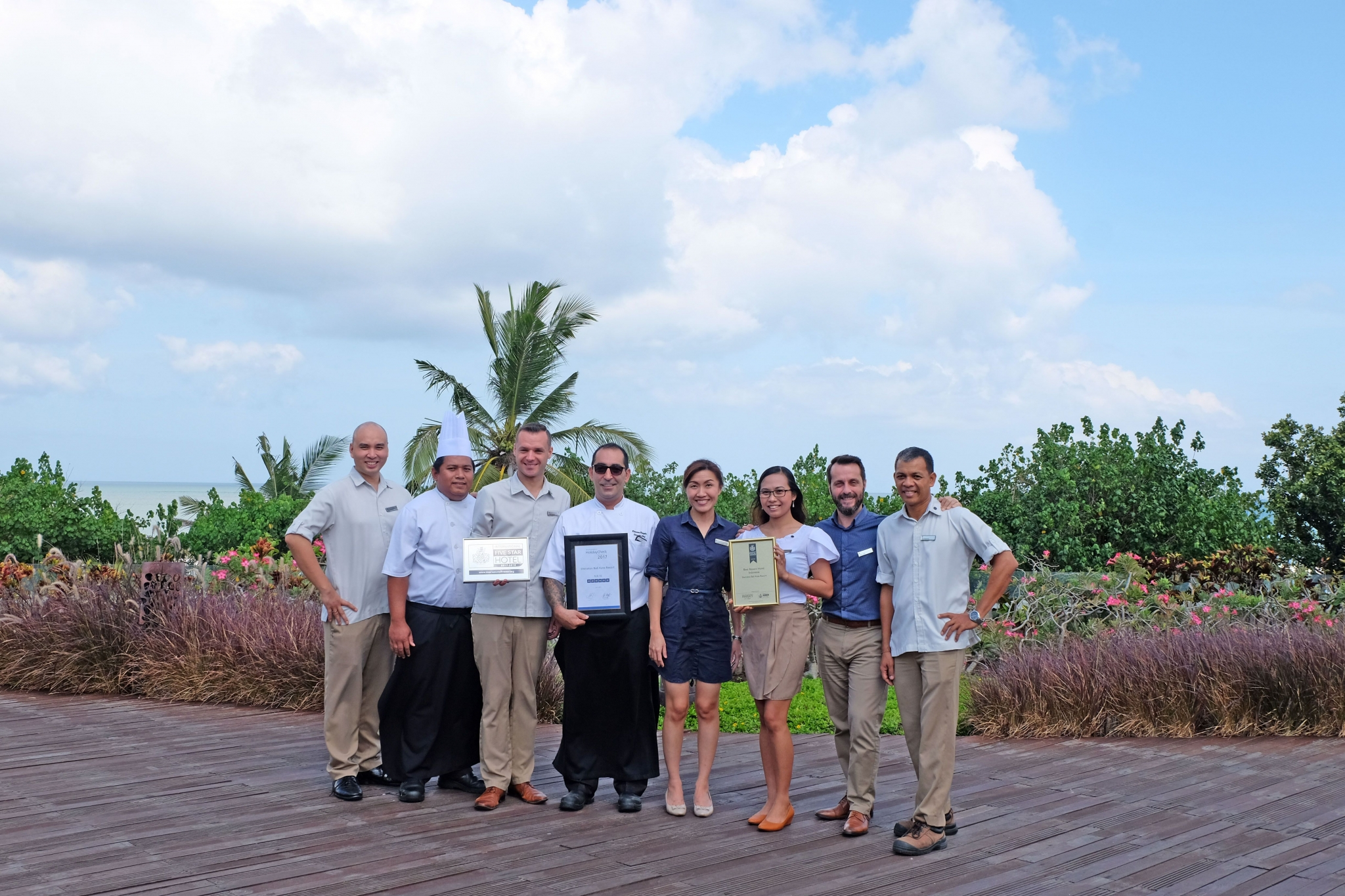 The Management team of Sheraton Bali Kuta Resort. General Manager Dario Orsini